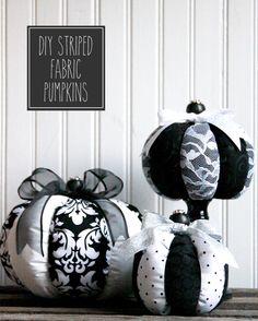 DIY Striped Fabric Halloween Pumpkins