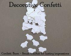 150 Little Sheep Decorative Party Confetti - Baby Shower Confetti - Baptism Decor - Party Table Embellishments #12