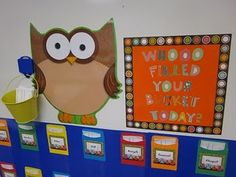 Bucket fillers for my owl themed room!