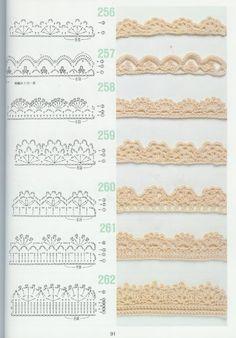 free crochet patterns for crochet borders Crochet Boarders, Crochet Edging Patterns, Crochet Lace Edging, Crochet Diagram, Crochet Chart, Filet Crochet, Diy Crochet, Crochet Designs, Crochet Flowers