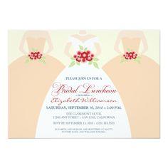 Bride and Bridesmaids Bridal Luncheon Invite (peach)                                                                                                                                                      More
