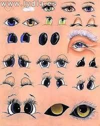 Resultado de imagen para como pintar ojos en ceramica