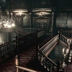 The scariest mansion of all time. #gamescreenshot #playing #residentevil #residentevil1 #spencermansion #horrorgames #ps4