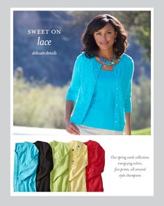 Lace Pattern Cardigan - Christopher & Banks Love these colors!