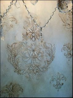 raised stencil wall design @jmwestfall please come do this in my house!: