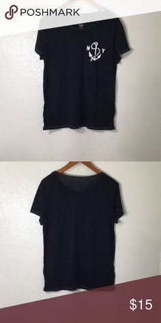 bfd205210ca7aa American eagle nautical tee NWOT SIZE L AE favorite tee NWOT Size Lg  Measurements across underarms long arm neck American Eagle Outfitters Tops  Tees - Short ...