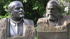 Obalone pomniki - Lenin i Marks