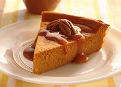 Sunday Dinner: dessert: Impossibly Easy Pumpkin Cheesecake    uses canned pumpkin, 1 pkg cream cheese,  pumpkin pie spice; drizzle with caramel sauce and sprinkle with toasted pecans!