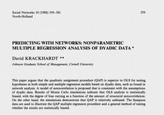 analysis of network concepts for a small Social network analysis (sna) is the process of investigating social structures through the use of networks and graph theory it characterizes networked structures in terms of nodes (individual actors, people, or things within the network) and the ties, edges, or links (relationships or interactions.