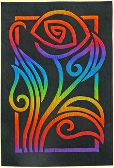 Fantasy Rose Rainbow quilt - pattern here:  http://www.prqc.com/2faq.htm