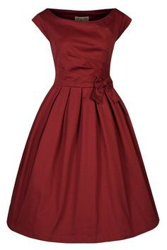 Red Vintage Dress with Bow . bridesmaids
