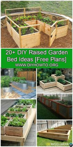 More than 20 DIY Raised Garden Bed Ideas Instructions [Free Plans] from Cinder block garden bed to wood garden bed and garden tower! Creative Raised Garden Projects To Try For Your Home Diy Garden Bed, Garden Boxes, Garden Planters, Cheap Garden Ideas, Vege Garden Ideas, Diy Herb Garden, Tower Garden, Garden In The Woods, Lawn And Garden