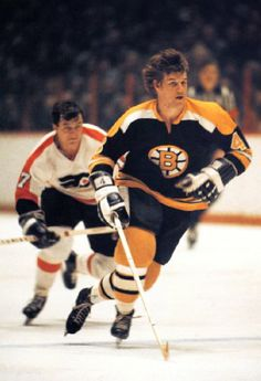 I agree with this description - Bobby Orr, The Great One Of Defense - one of my favorite hockey photos.