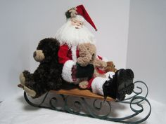 Santa Claus Teddy Bear Father Christmas by PutsyPlace on Etsy