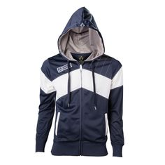 Assassin's Creed Unity Official Blue/White Embroidered Zip Up Hoodie Assassins Creed Hoodie, Assassins Creed Unity, Zip Up Hoodies, Cool Hoodies, Modern Assassin, Knight Hoodie, Connor Kenway, Wii U, Moda Masculina