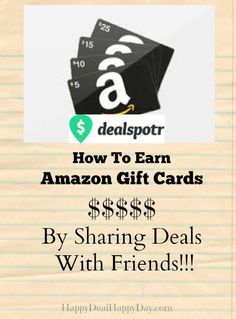 Dealspotr:  A New Deal Sharing Forum Where You Can EARN Amazon Gift Cards!  I earned $15 after just a few days in the community!    happydealhappyday.com