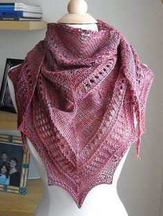 Ravelry: Mirabelle Texture Sampler Shawl pattern by Zehava Jacobs Knit Or Crochet, Lace Knitting, Crochet Shawl, Knitting Patterns Free, Knit Patterns, Free Pattern, Knitting Tutorials, Crochet Granny, Free Crochet