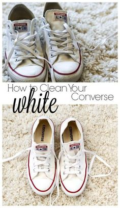 How to Clean Your White Converse Cleaning White Converse 6497cab29