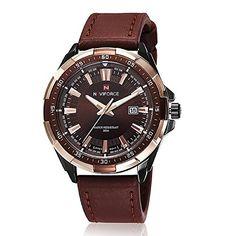 harwish Herren Edelstahl Armbanduhr 9056braun - http://uhr.haus/harwish/harwish-herren-edelstahl-armbanduhr-9056-braun