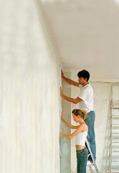 Wallpaper is a wonderful way to transform your walls, and with these step-by-step instructions, hanging it will be easier than you think. Learn how to hang wallpaper!data-pin-do=