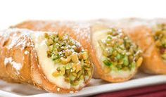 If you have never tasted this delicious Sicilian dessert, you can try to make it yourself. Cannoli are made of delicious crispy crust (like shells)and filled with creamy mixture of ricotta, cinnamon and citron. Very yummy! Italian Pastries, Italian Desserts, Fun Desserts, Italian Recipes, Dessert Recipes, Food Deserts, Delicious Desserts, Pastry Recipes, Cooking Recipes
