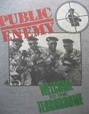 PUBLIC ENEMY Welcome to the TERRORDOME Vtg 1989 PE Rap hip hop T-shirt 90s L