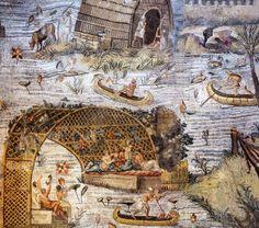 Mosaico del Nilo, particolare - Palestrina Roma II sec.A.D.