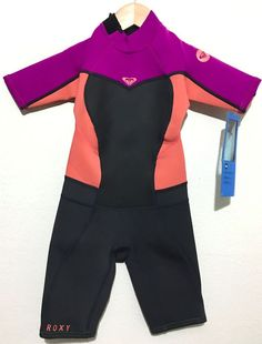 7ce9fb19d4 ROXY Girls Spring Shorty Wetsuit Syncro 2mm Youth Juniors Childs Size 6