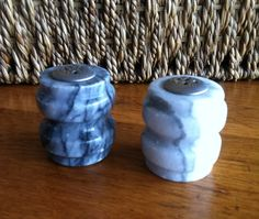 Vintage Marble Salt and Pepper Shakers on Etsy, $10.00