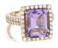 Christophe Danhier Amethyst and Diamond Ring available at Houston Jewelry! www.houstonjewelry.com