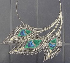 handmade bobbin lace necklace. stunning.