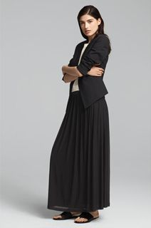 EILEEN FISHER Spring Icons Collection: High Back Jacket + Silk Shell + Pleated Skirt
