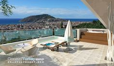 Hillside Homes, Alanya Outdoor Furniture, Outdoor Decor, Sun Lounger, Homes, Home Decor, Alanya, Chaise Longue, Houses, Decoration Home