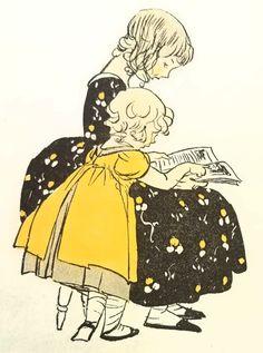 pintura de Maginel Wright Enright Vintage Illustration Art, Illustration Art Drawing, Old Children's Books, American Children, Mermaid Art, Children's Literature, American Artists, Fantasy Art, Fairy Tales