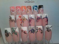 3d Nails, Cute Nails, Natural Nail Designs, Square Acrylic Nails, French Tip Nails, Toe Nail Designs, Flower Nails, Natural Nails, Summer Nails