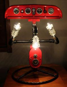Farmall Lamp Tractor Machine Age Hemingray Insulator Industrial Steampunk Light