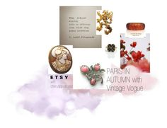 """Paris in Autumn with VintageVogue"" by cherrylippedroses ❤ liked on Polyvore featuring GUINEVERE, CORO and vintage"