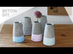 Kegelförmige Betonvase im Dipped-Look, inspiriert von Vase ›Tube‹ von House Doctor. Schau das Video Tutorial auf Youtube.