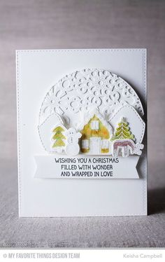 Winter Wonderland, Blueprints 12 Die-namics, Snowflake Fusion Cover-Up Die-namics, Stitched Arch STAX Die-namics, Winter Wonderland Die-namics - Keisha Campbell #mftstamps