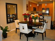 Dining Room Ideas For Apartments apartment living & dining room 2nd view.amli on maple - dallas
