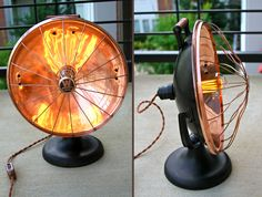 Vintage Repurposed Table Heater Light | Created By: DanCordero |