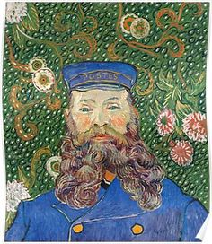 Portrait of the Postman Joseph Roulin by Vincent van Gogh Poster
