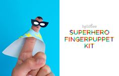 Printable Superhero Finger Puppets - a fun craft and a great stocking stuffer!
