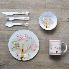 Personalised Melamine Kids Dinner Set