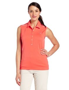 Puma Golf NA Women's Tech Sleeveless Shirt, Hot Coral, X-Large PUMA http://www.amazon.com/dp/B00DDXILV6/ref=cm_sw_r_pi_dp_iLHxvb01R7WP5