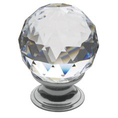 Baldwin Crystal Inch Diameter Round Cabinet Knob from the Estate C Polished Brass Cabinet Hardware Knobs Round Crystal Knobs, Faceted Crystal, Clear Crystal, Swarovski Crystals, Brass Cabinet Hardware, Cabinet Knobs, Knobs And Handles, Knobs And Pulls, Drawer Pulls