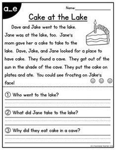 1st Grade Reading Worksheets, First Grade Reading Comprehension, Phonics Reading, Reading Comprehension Worksheets, Teaching Phonics, Reading Passages, Kindergarten Reading, Teaching Reading, Grade 1 Reading
