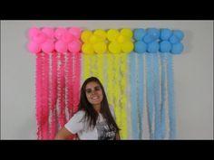 BEXIGA COM TULE - DECORAÇÃO DE FESTA INFANTIL - # 8 FAMÍLIA DIY - YouTube