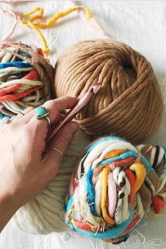 There is really nothing like a day spent knitting! Pictured here is Knit Collage Rolling Stone yarn in Boho Dance. This yarn is handspun in India ~ every skein is different and unique! Boho knits, #handspun, #knitspiration,