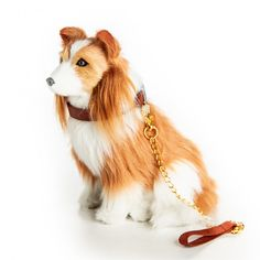 The Queen's Treasures Doll Pet Accessory - Collie Dog with Collar & Leash Collie Puppies, Collie Dog, Border Collie, Plush Animals, Baby Animals, Cute Animals, American Girl Doll Pets, Pets For Sale, Secret Life Of Pets